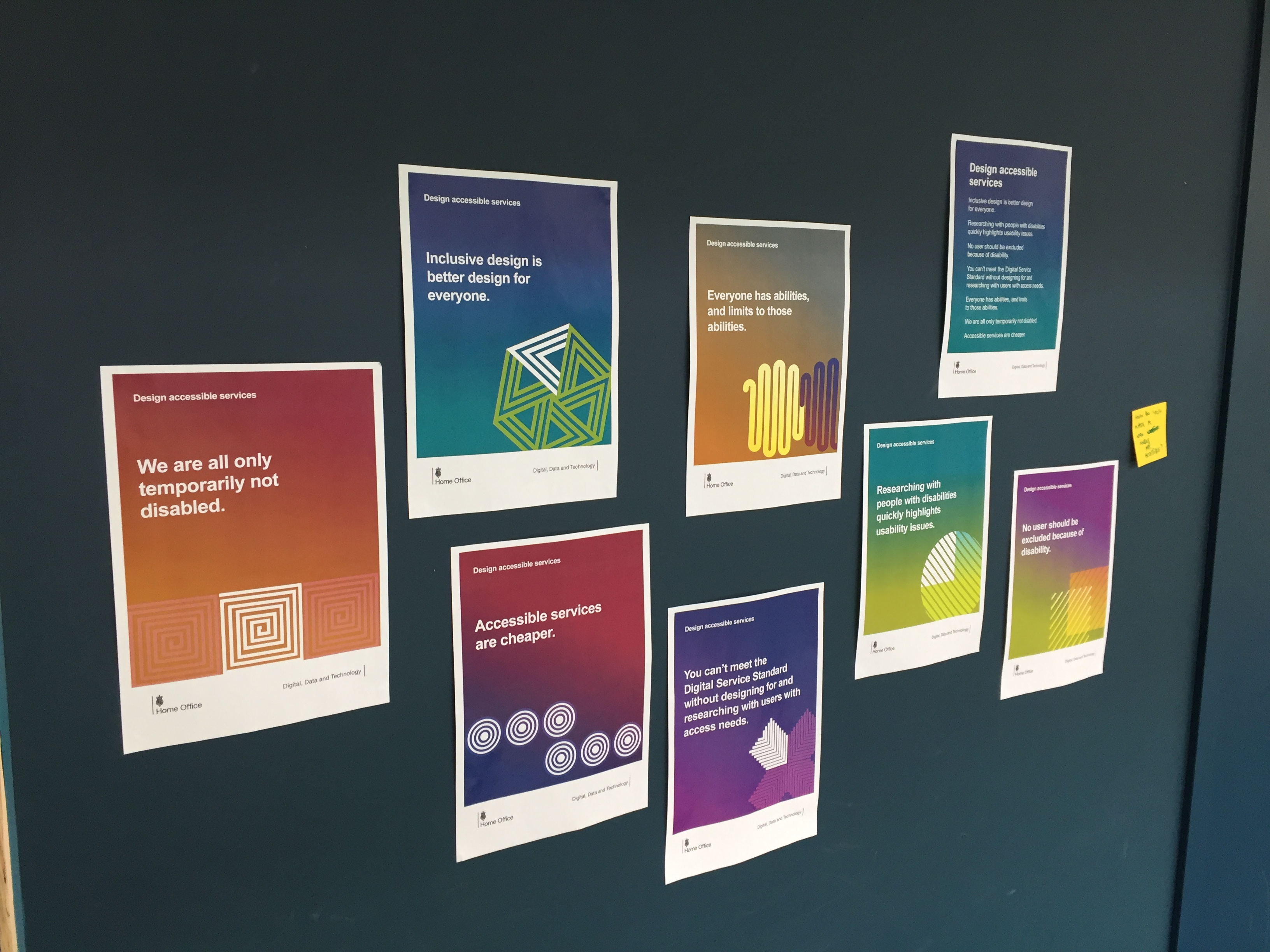 Design accessible services advice posters made by the Home Office